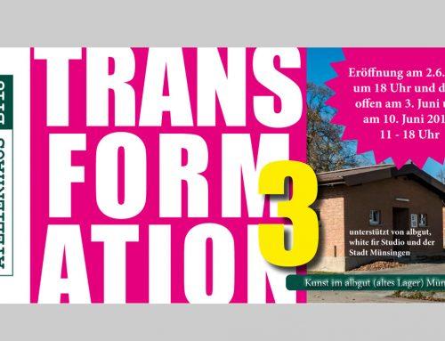 Veranstaltungshinweis – Eröffnung der Kunstausstellung TRANSFORMATION am 2. Juni 2018