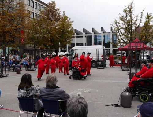 """""""Hierbleiben …"""" auf dem Reutlinger Marktplatz"""